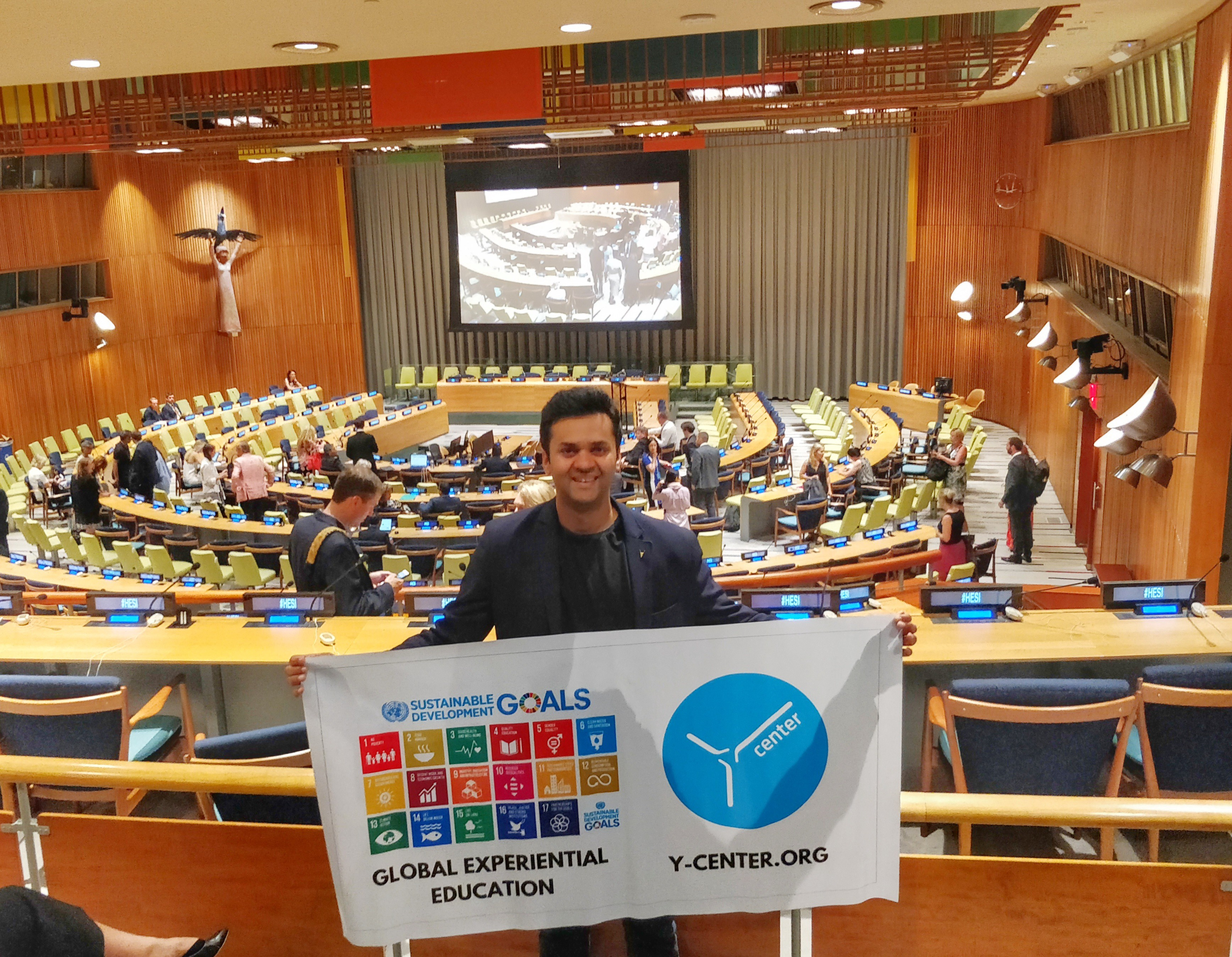 Ycenter CEO Dhairya Pujara at United Nations, New York SDG event