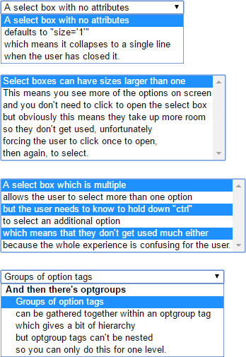 Styleable select box replacement in pure CSS and semantic HTML