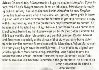 "Alex Ross: ""When Marvelman kills that young boy to save the world…Superman is the greater hero…He'll find a different way."""