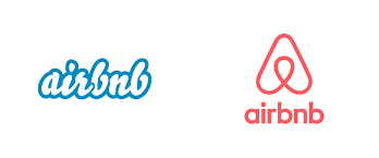 Airbnb logos then and now