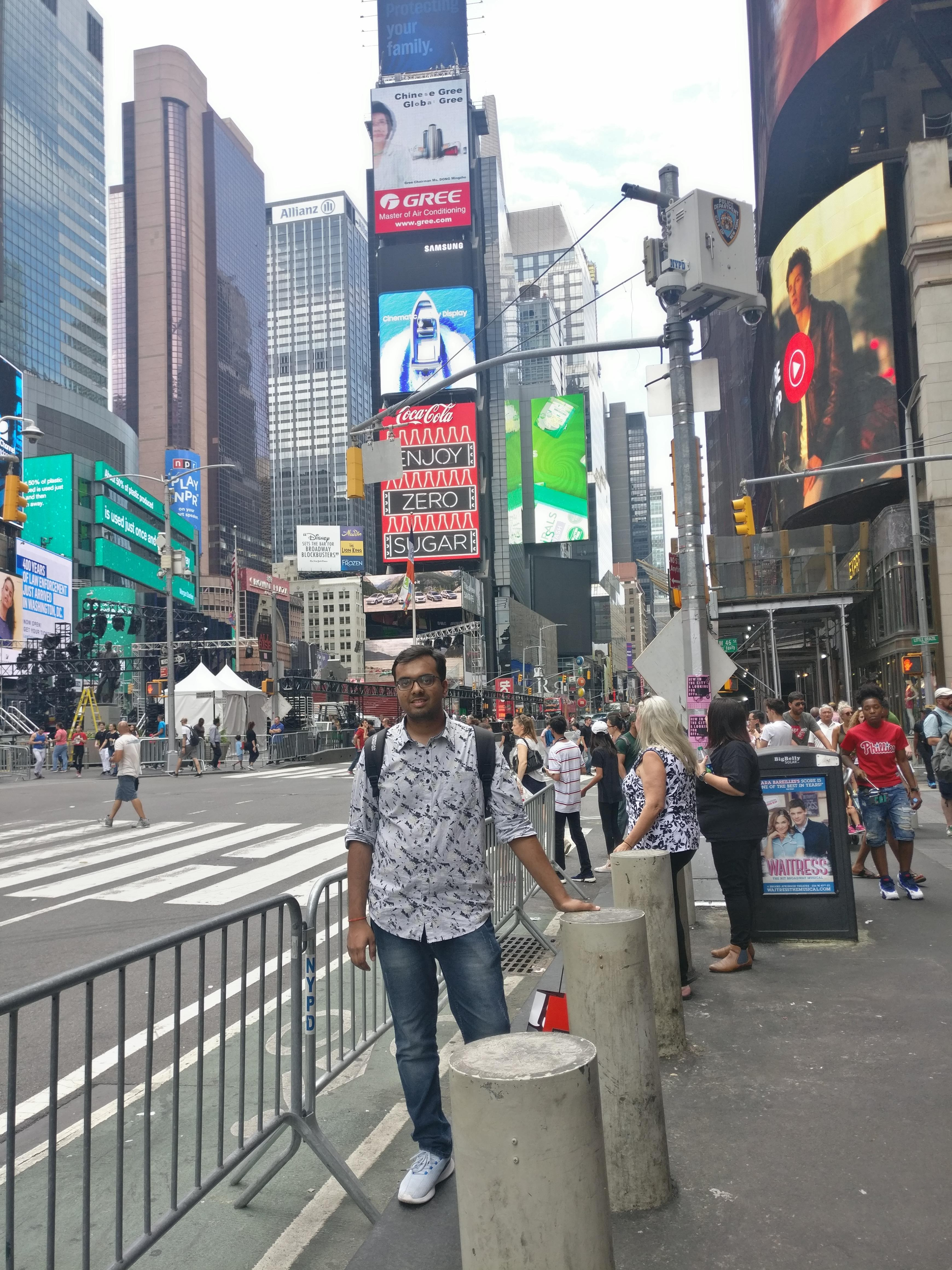 At the Times Square, New York City