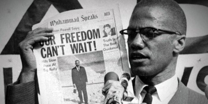 Official Malcolm X Freedom Flag T-Shirt Justice The End Of White World Supremacy