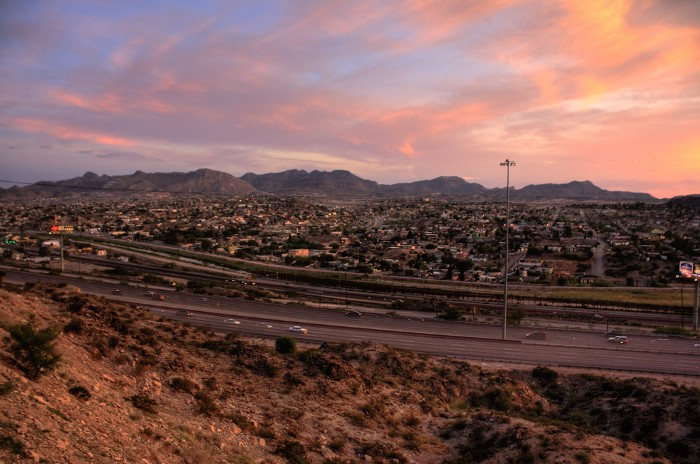 View of Juarez from el paso/photo by khowaga1