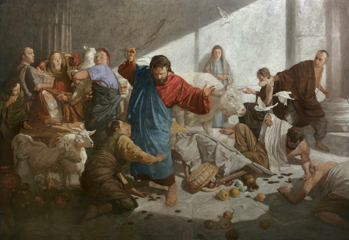 Expulsion of the merchants from the temple by Andrei Mironov