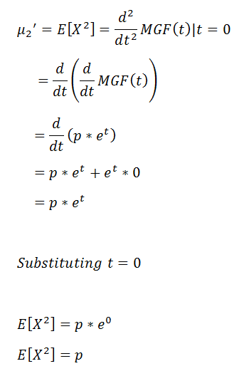 Figure 34: Second raw moment. | Bernoulli Distribution a Probability Tutorial with Python