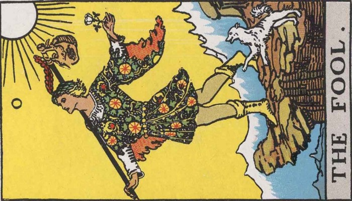 """The Fool"" from a rider-waite Deck"