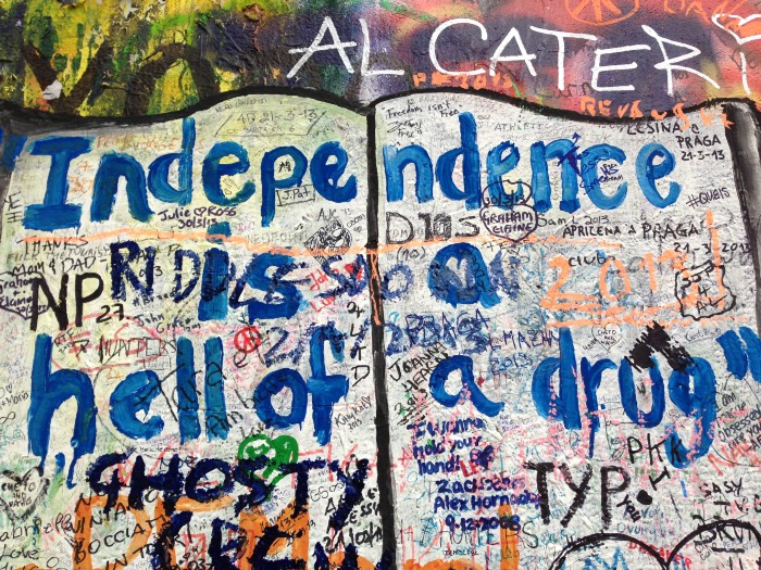 John Lennon Wall in prague / taken by author
