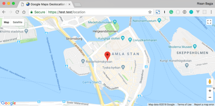 Track User's Location and Display it on Google Maps on