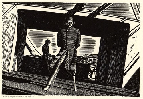 Sea Change. From RockWell Kent's Illust. Moby-DIck, 1930.