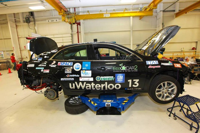 UWAFT Ecocar2 Vehicle at Gm 's yuma proving grounds
