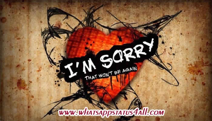 45 Sorry Status For Whatsapp Facebook Short Sorry Quotes