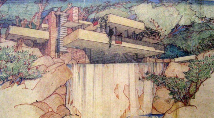 Frank Lloyd wright, fallingwater, mill run, pennsylvania, 1936-9