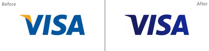 old and new visa logo