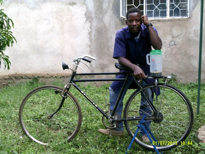 BerNard Kiwia's Bike Powered Juice-Blender