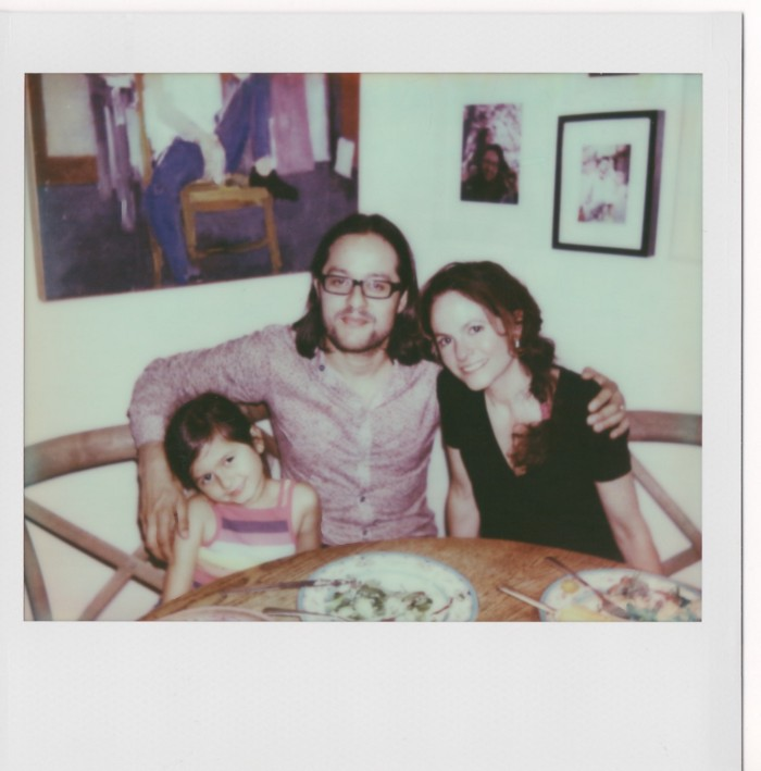 Lyla, James, and Michelle at home on the upper west side