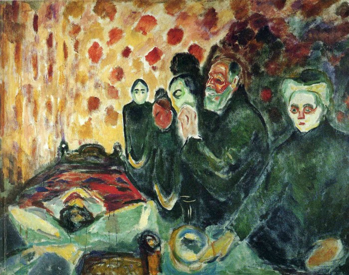 Edvard Munch - By the death bed (fever) 1