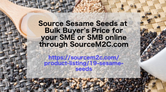 Buy or Source SESAME SEEDS at Bulk Buyer's Price from Verified Pool