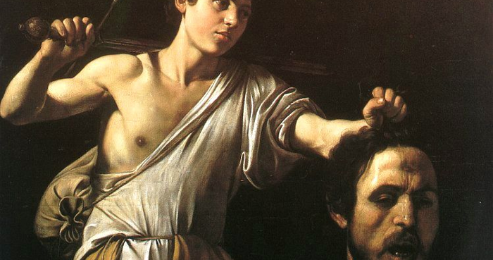 DAVID & GOLIATH BY CARAVAGGIO