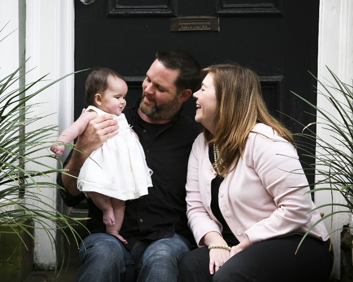 Matt & Melanie Capobianco with their adopted daughter veronica/Photo: Allyson Bird