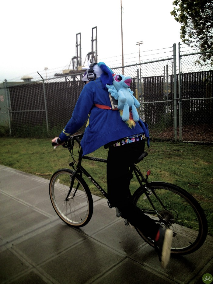 Raver Riding in the Rain/BIke Hugger