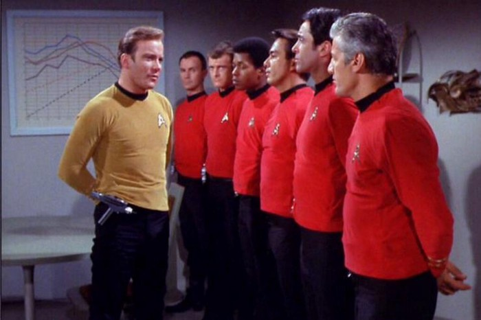 Captain Kirk addresses the redshirts / Star Trek The original Series
