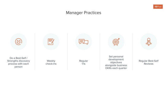 Graph of manager practices for best self management