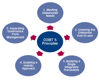 figure 3 — cobit 5 principles diagram