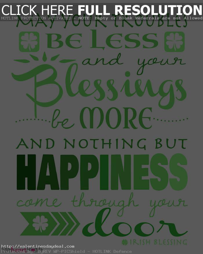 St Patricks Day Quotes and Wishes - Valentine\'s Day Deal ...