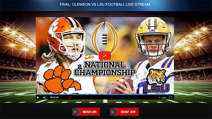 Free Clemson Vs Lsu Live Cfp National Championship Live Streams Reddit 2020 College Football Playoff By Anthony Joshua Fight Medium