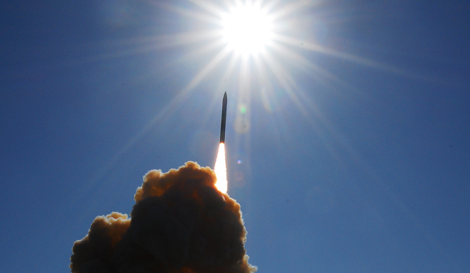 Ground-based interceptor launch. jose Davila/Navy Media Content Services Photo