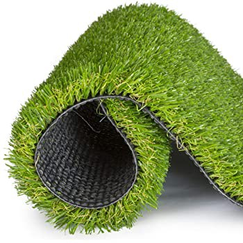 Piece of astroturf loosely rolled up.