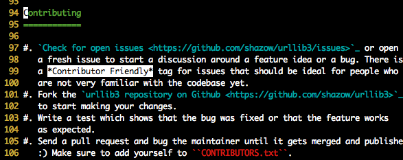 Excerpt from README.rst