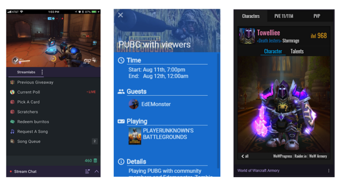 Streamlabs Mobile App Features - Mariagegironde