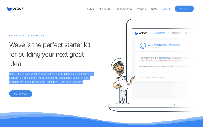 Wave home page