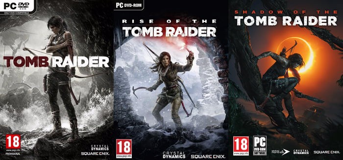Tomb Raider Reboot Trilogy Blockbuster Video Games By Edmond Wu
