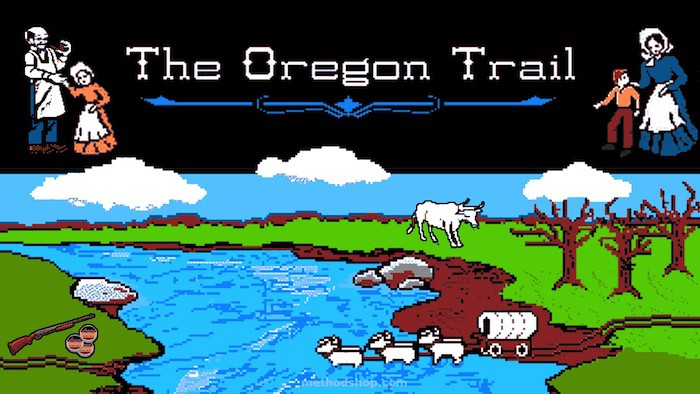 Game screen from The Oregon Trail
