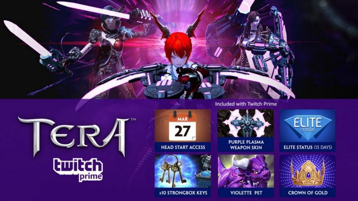 Twitch Prime Members, Explore TERA on PS4 and Xbox One with Head