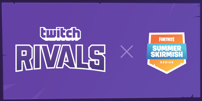 Join us for the Twitch Rivals x Fortnite Summer Skirmish