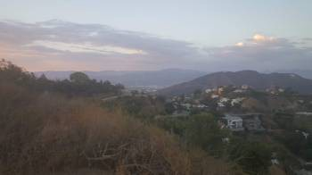 View from off Mulholland Drive overlooking Los Angeles