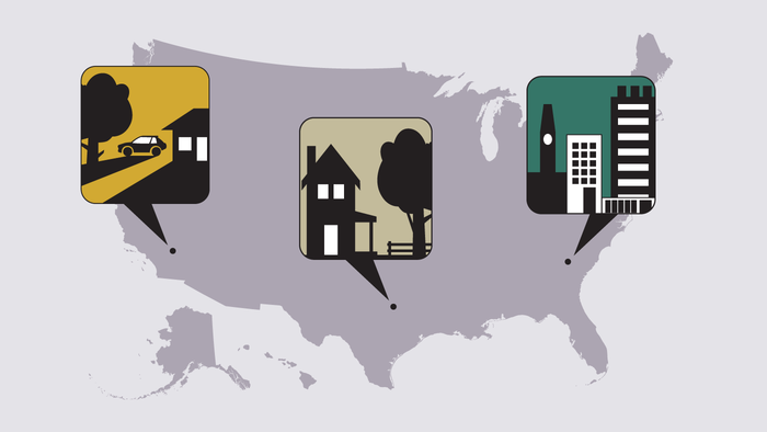 Evaluating what makes a U.S. community urban, suburban or rural
