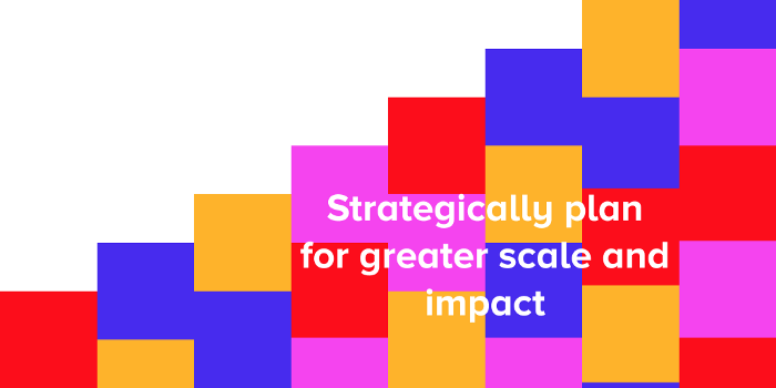 Strategically plan for greater scale and impact