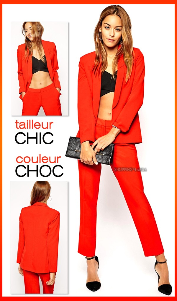 f9338cfe55d22 Tailleur pantalon femme rouge - Shoppingdelaura - Medium