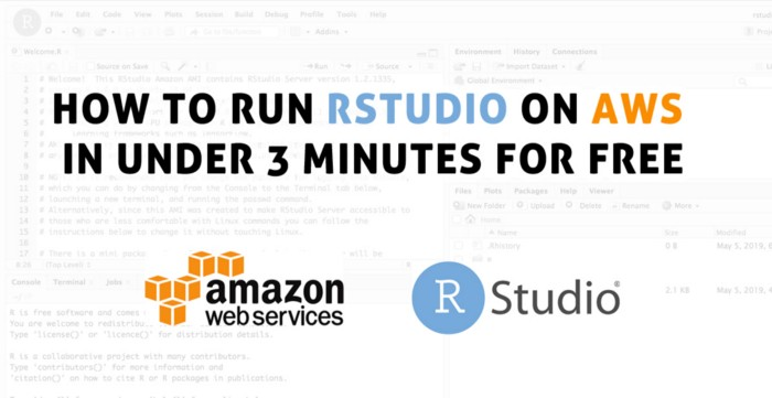 How to run RStudio on AWS in under 3 minutes for free