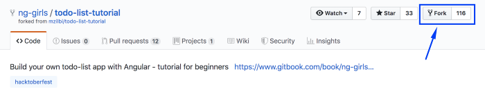 Forking in Github