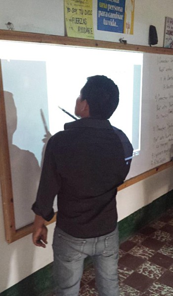 A Guatemalan teacher trying the IW2 for the first time