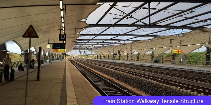 Train Station Walkway Tensile Structure