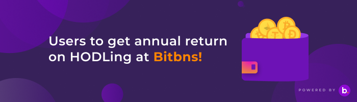 Users to get annual return on HODLing!