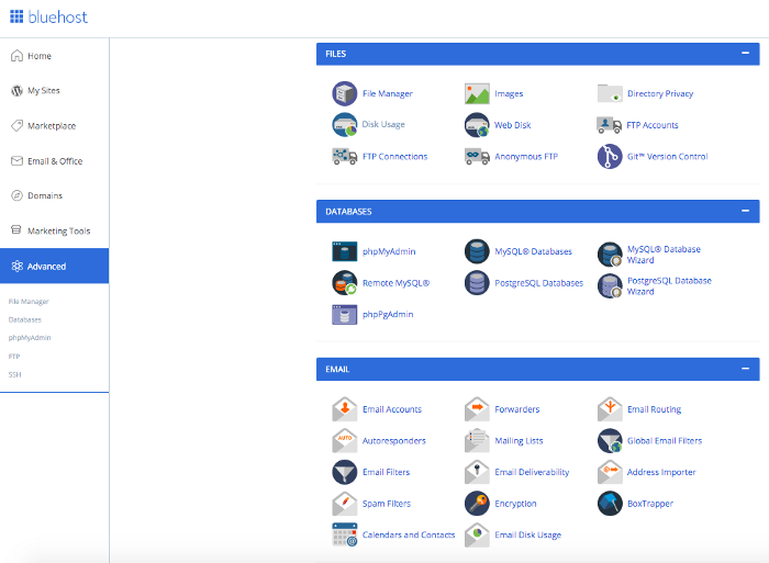 Bluehost review 2021 C panel