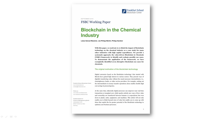 Blockchain In The Chemical Industry