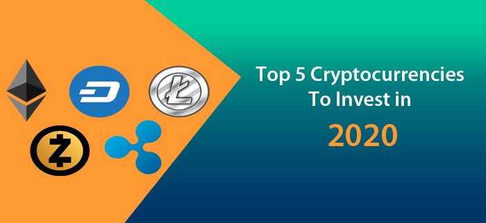Cryptocurrency top 5 to invest in